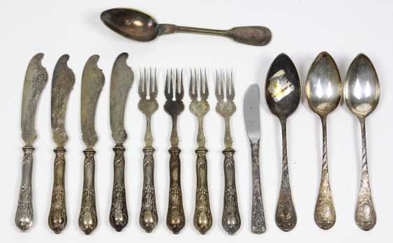 Historicism fish Cutlery, silver 800, etc - photo 1