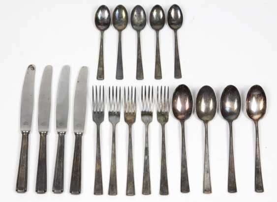 Art Deco Cutlery Set In Silver 800 - photo 1