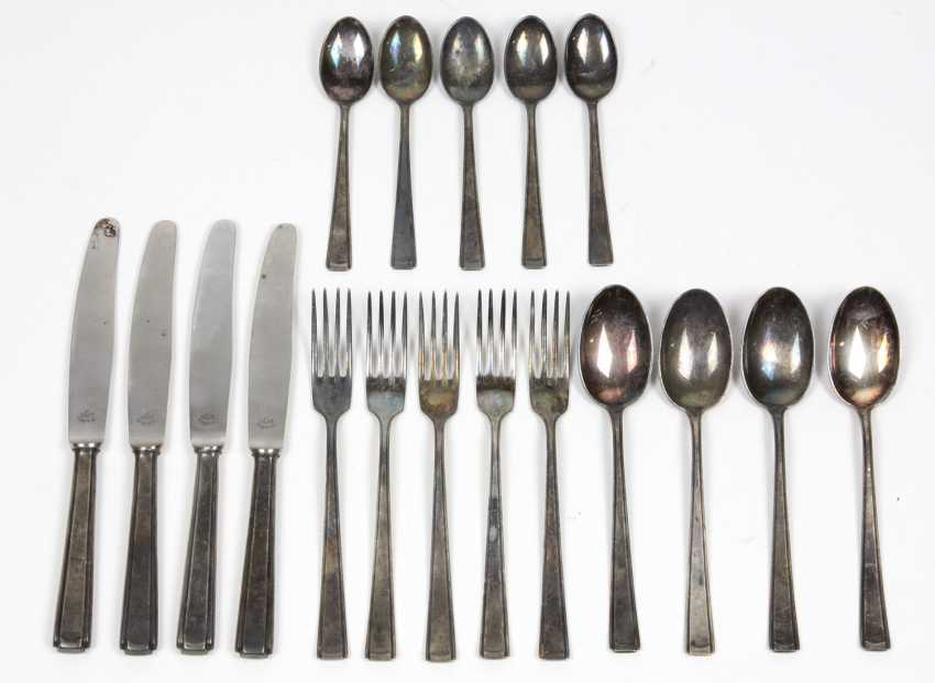 Art Deco Cutlery Set In Silver 800 - photo 1