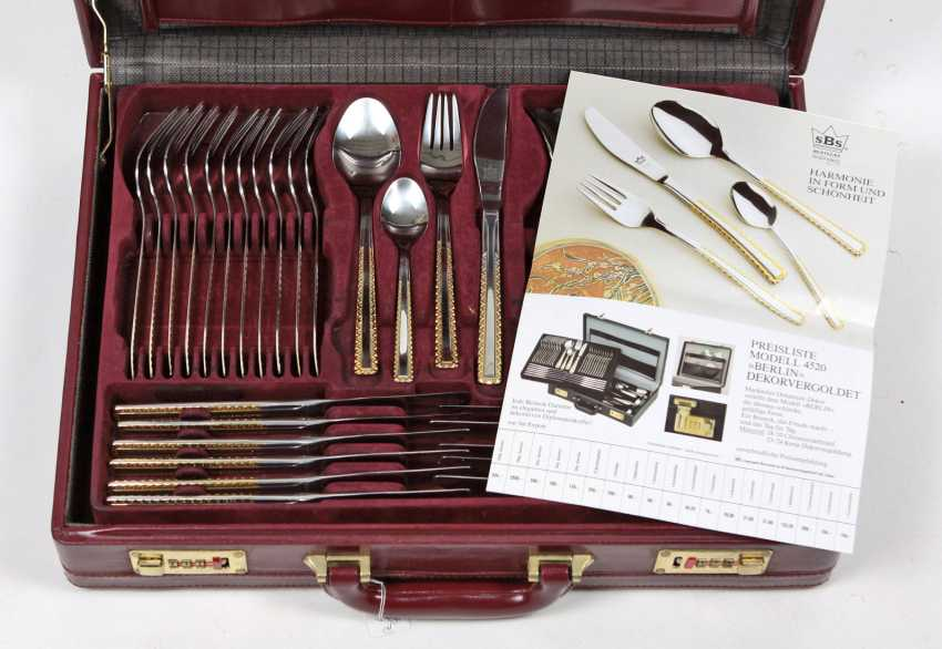 gold plated flatware service for 12 persons - photo 1