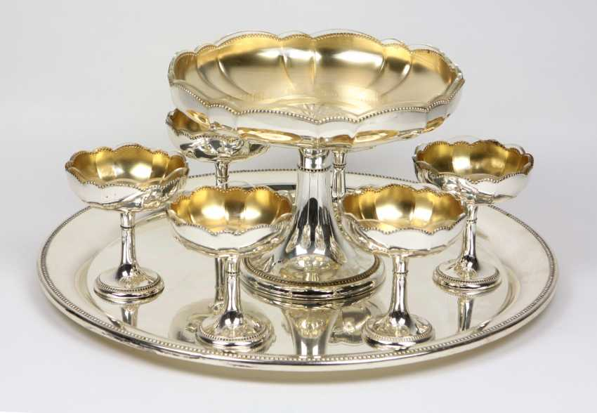Dessert set with glass inserts - photo 1
