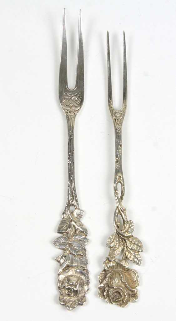 2 Serving Forks Silver 800/835 - photo 1