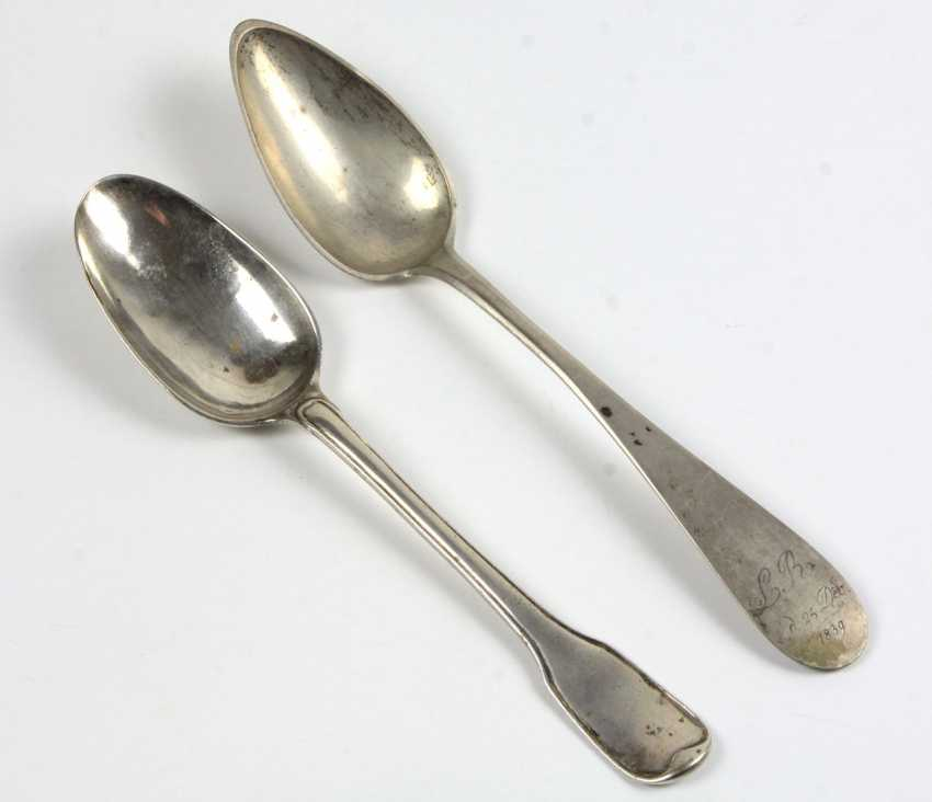 2 Silver Spoons Augsburg 1783/85 - photo 1
