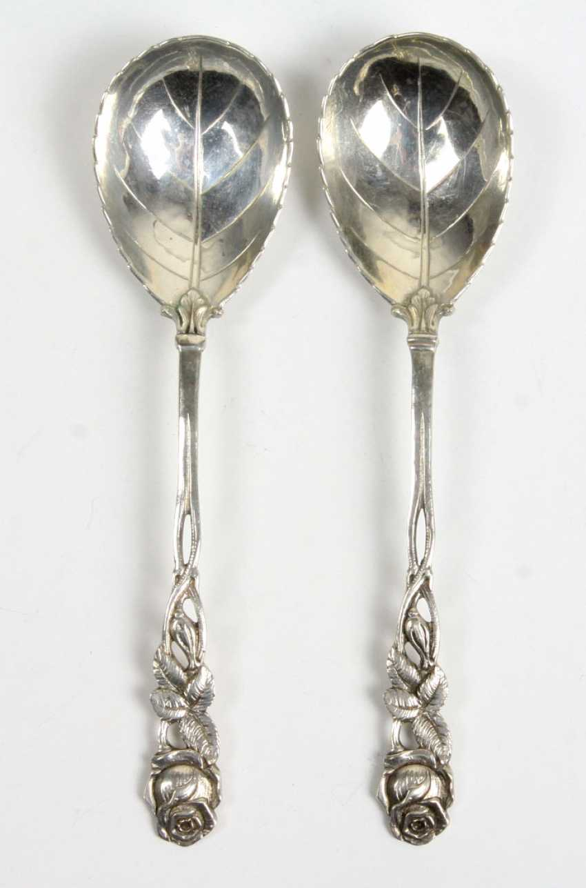 2 silver rose spoon - photo 1