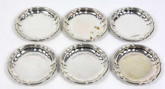 6 Coasters Silver 800 - photo 1