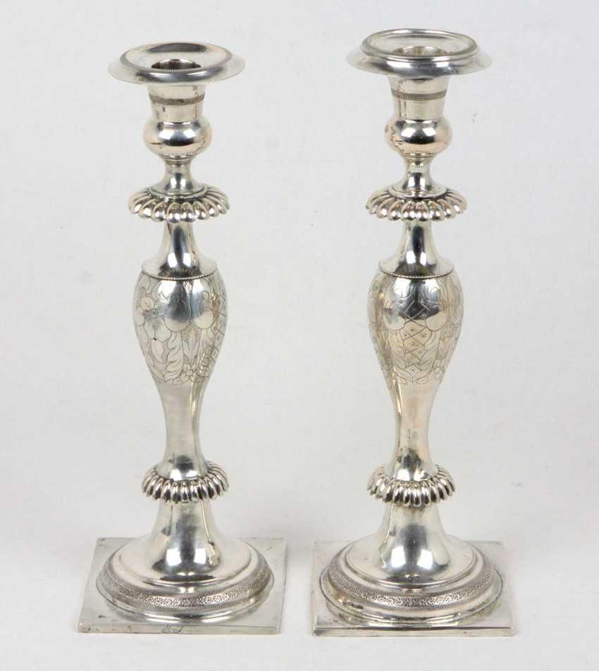 2 Candlesticks, Empire Style, Breslau, 1847 - photo 1