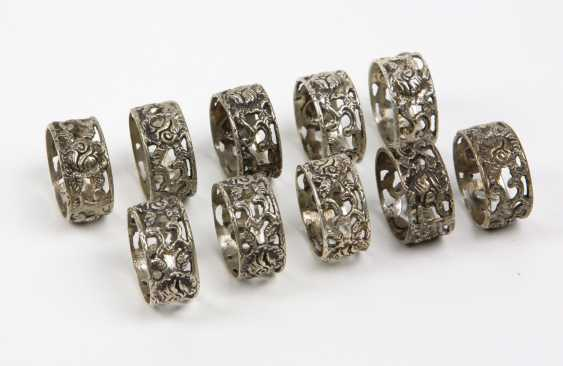 Set Of Napkin Rings Rose Decor - Silver 835 - photo 1