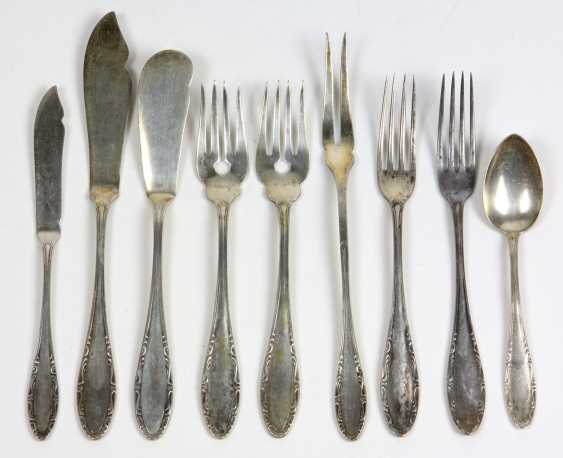 9 Pieces Of Cutlery - Silver 800 - photo 1