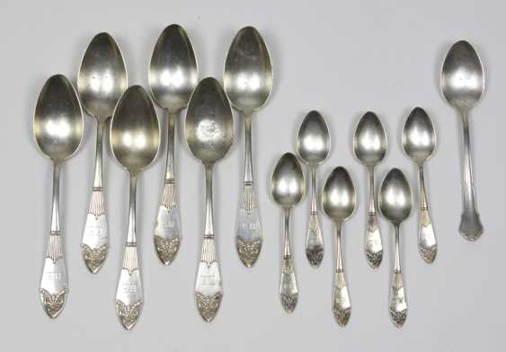 2 sets of coffee & soup spoon - silver - photo 1
