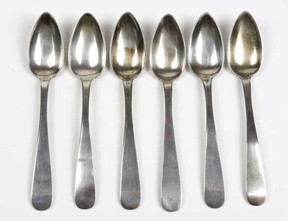 Set of Biedermeier silver spoons 1840 - photo 1