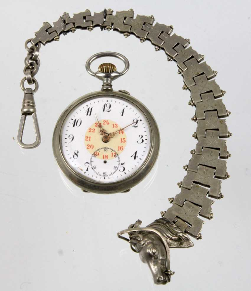 Mens pocket watch with watch chain - photo 1