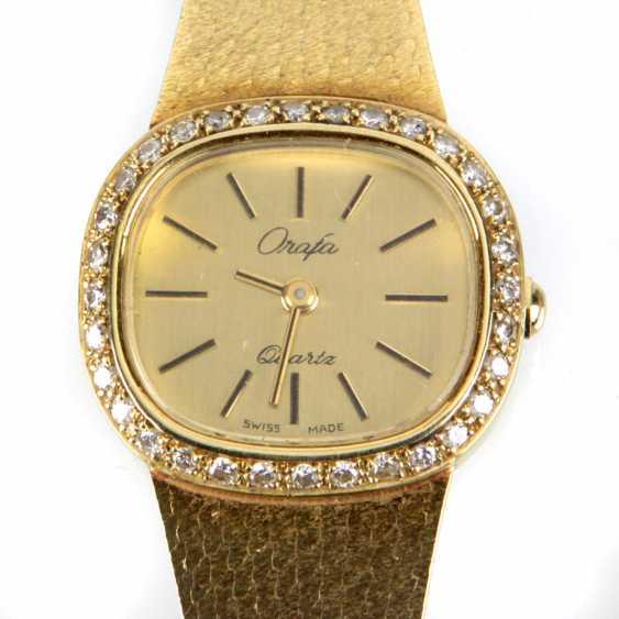 Ladies Watch - Yellow Gold 585 Brillant - photo 1