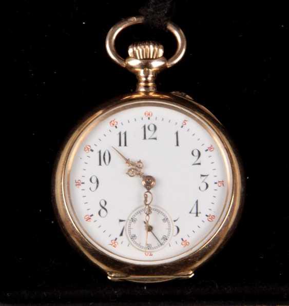 Ladies pocket watch, around 1900, - yellow gold 585 - photo 1