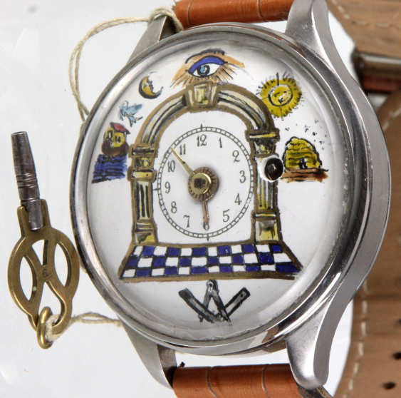 Unique wrist watch with spindle work