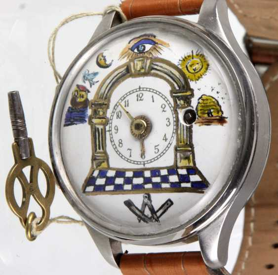 Unique wrist watch with spindle work - photo 1