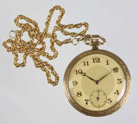 Swiss man's pocket watch with watch chain - photo 1