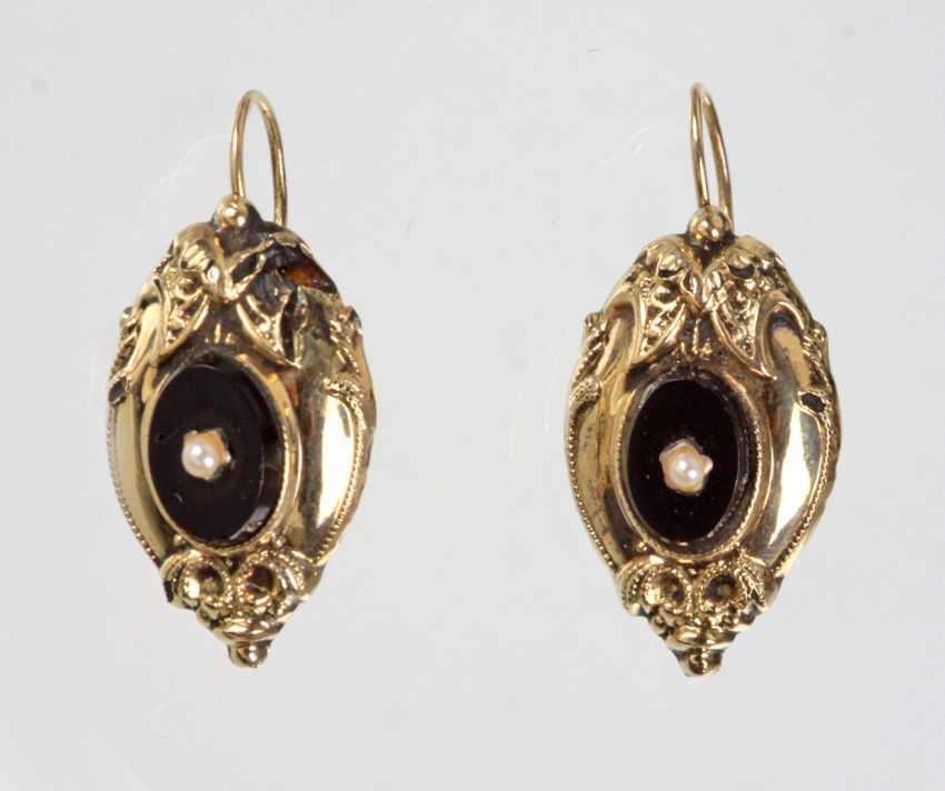 Biedermeier Earrings - Yellow Gold 333 - photo 1