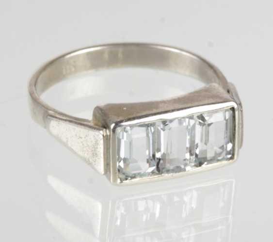 Art Deco Aquamarin Ring - photo 1