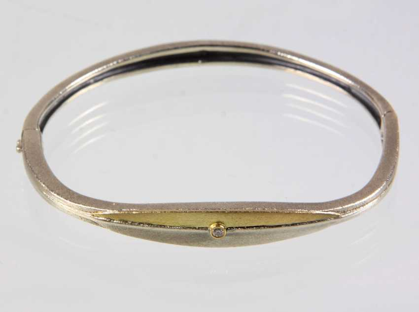 Bangle with brilliant - photo 1