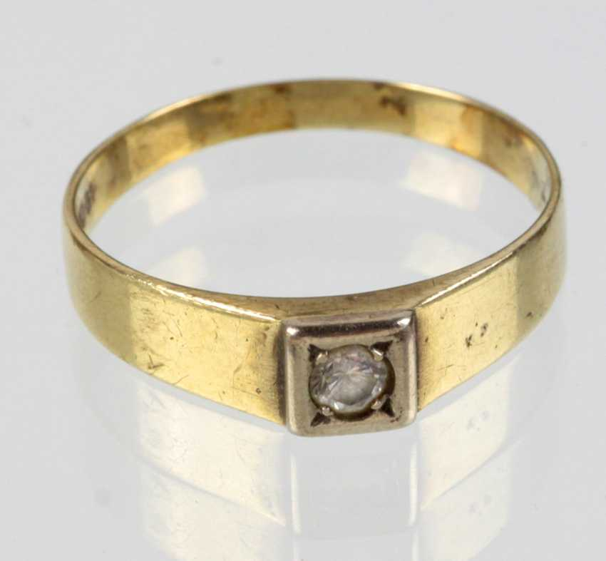 Ladies ring with cubic Zirconia - yellow gold 333 - photo 1