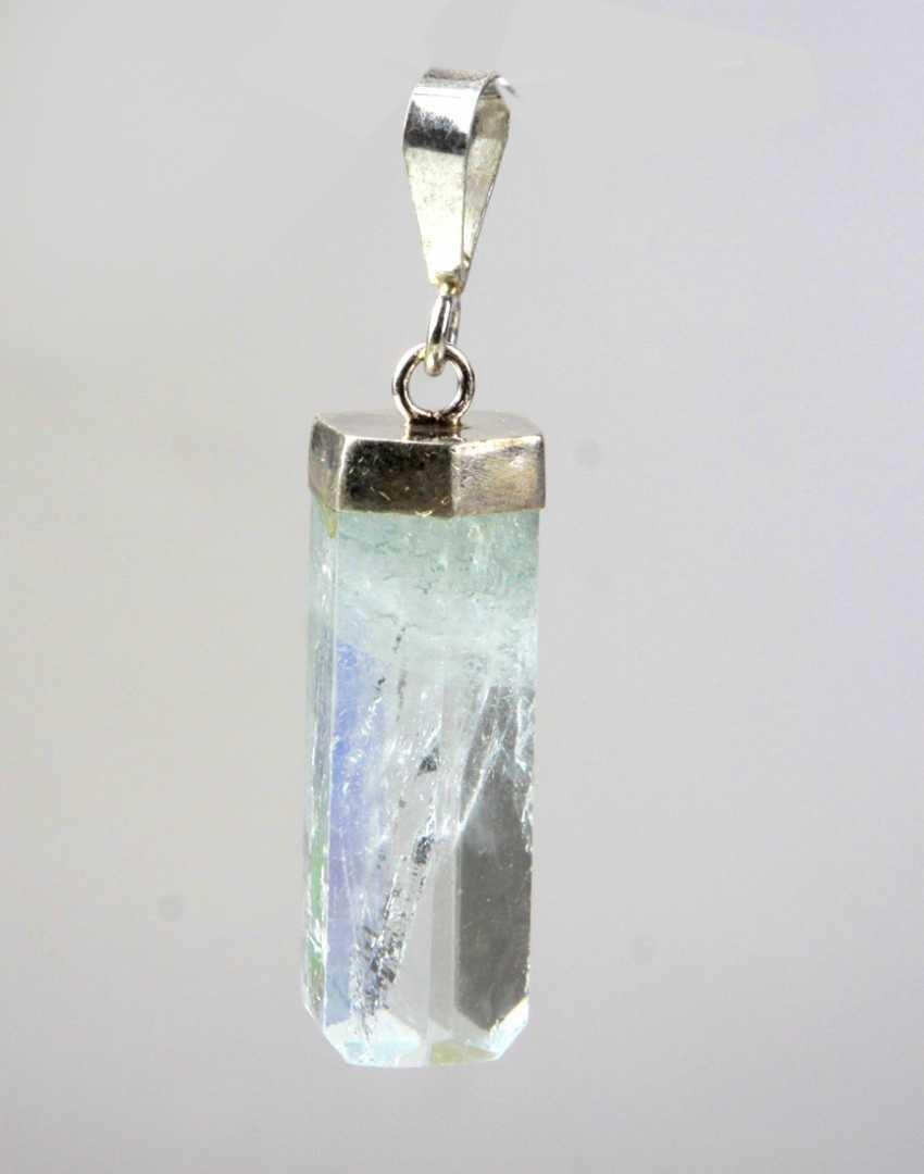 Aquamarine Pendant - Silver - photo 1