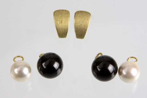 Pearl Earring Set - Yellow Gold 333 - photo 1
