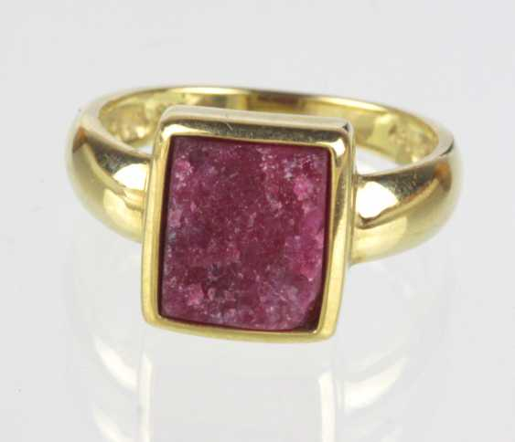 Ruby Ring - Yellow Gold 333 - photo 1