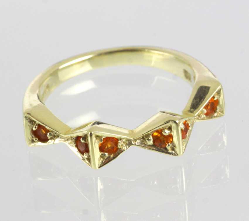 Mandarin Granat Ring - Gelbgold 585 - photo 1