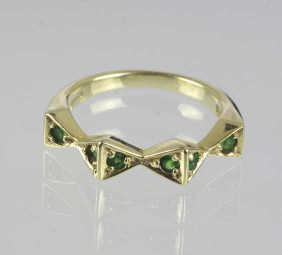 Tsavorite Ring In Yellow Gold 585 - photo 1