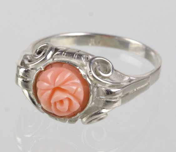 Ring with coral Rose - photo 1