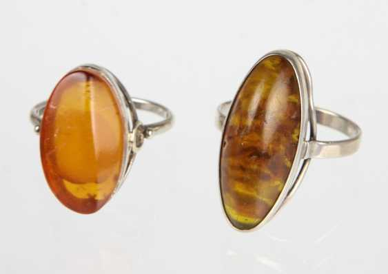 2 Amber Rings - Silver - photo 1