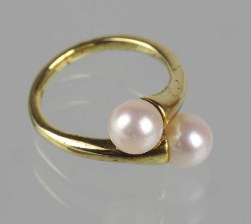 Pearl Ring - Yellow Gold 333 - photo 1