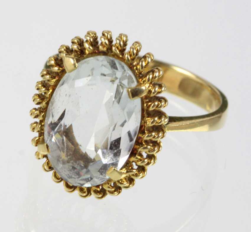 Aquamarine Ring Yellow Gold 585 - photo 1