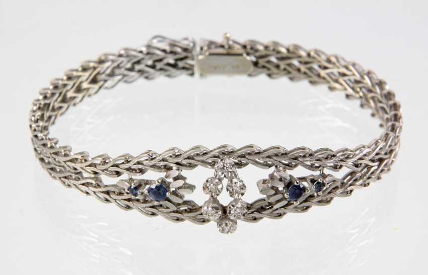 Saphir Brillant Armband - Weissgold 585 - photo 1