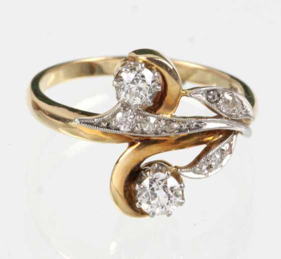 Art Nouveau Diamond Ring - Yellow Gold/White Gold 585 - photo 1