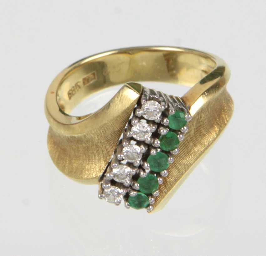 Emerald Ring - Yellow Gold 585 Brillant - photo 1