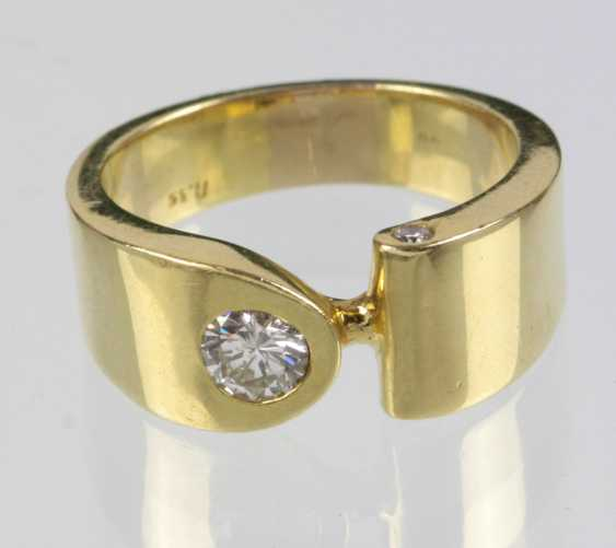 massiver бриллиант кольцо 0,50 карат. - Gelbgold 750