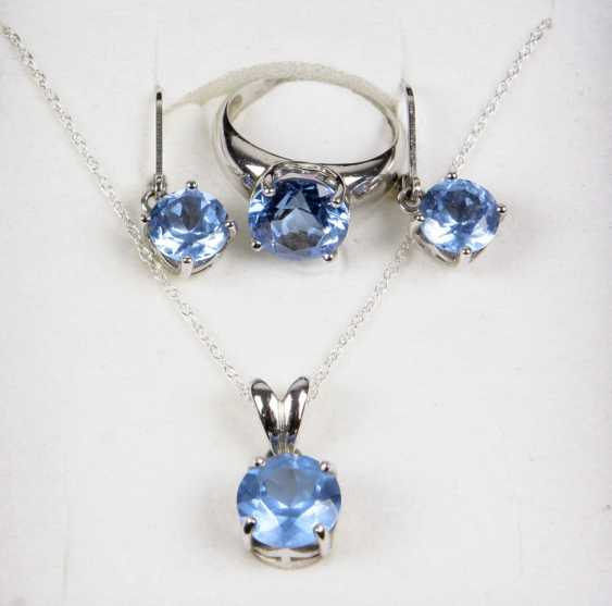 Jewelry with light blue color stones - photo 1