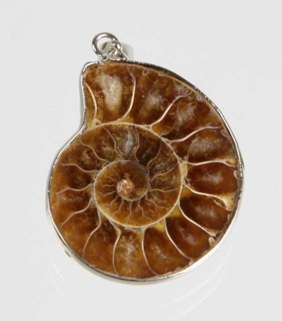 Pendant with a fossil Ammonite - photo 1