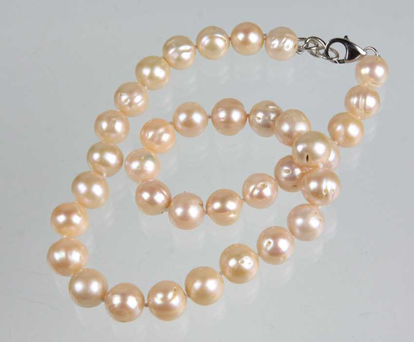 Freshwater Pearl Necklace - 925 Silver - photo 1