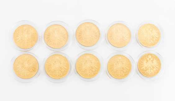 Austria/GOLD - 10 x 100 kroner 1915 NP, a total of approximately 304,8 g fine