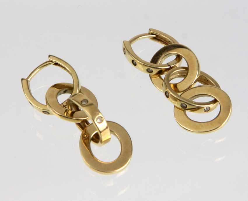 Diamond Earrings - Yellow Gold 333 - photo 1