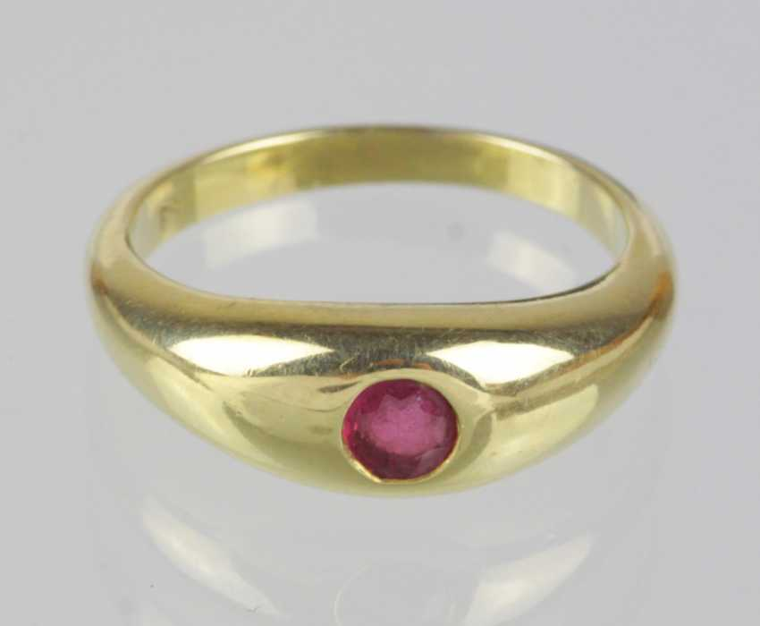Ruby Ring Yellow Gold 585 - photo 1