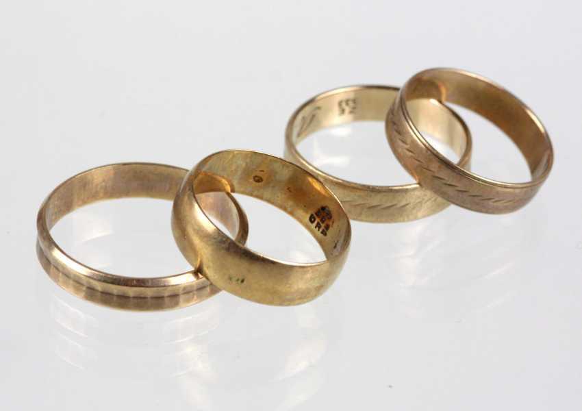4 Wedding Rings - Yellow Gold 333 - photo 1