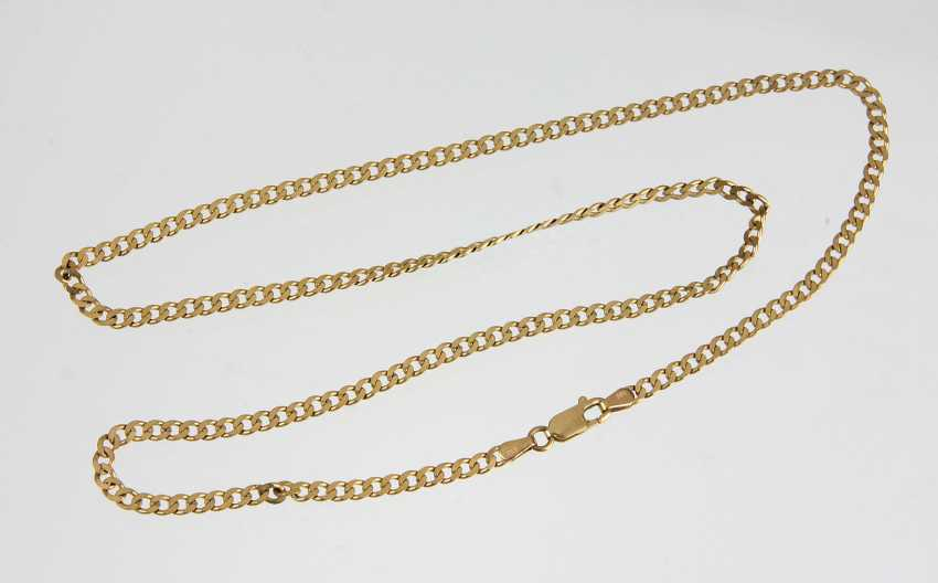 Golden curb chain - yellow gold 333 - photo 1