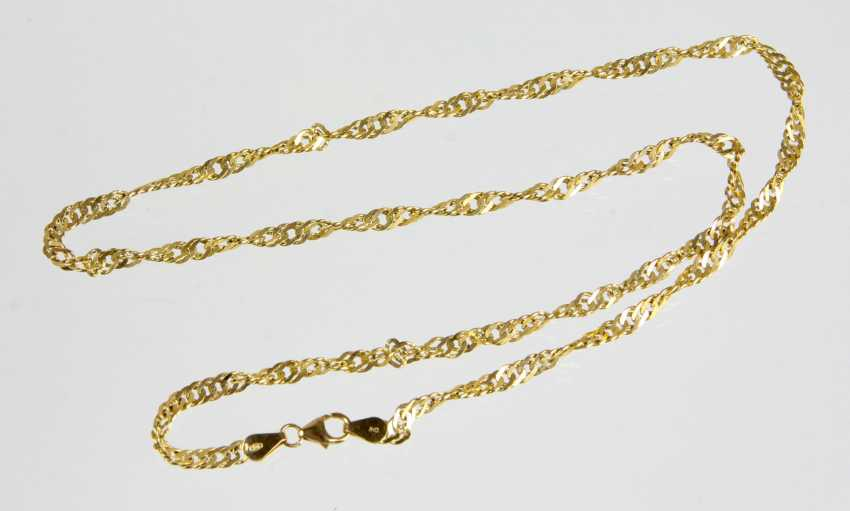 gold Singapore chain - yellow gold 333 - photo 1