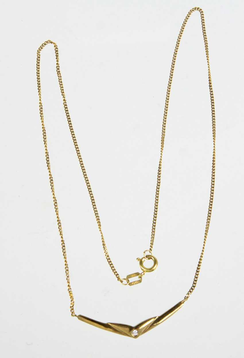 Necklace with cubic Zirconia - yellow gold 333 - photo 1