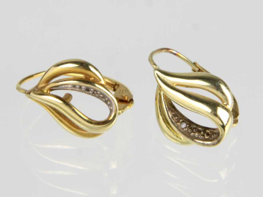 gold earrings - yellow gold 585 - photo 1