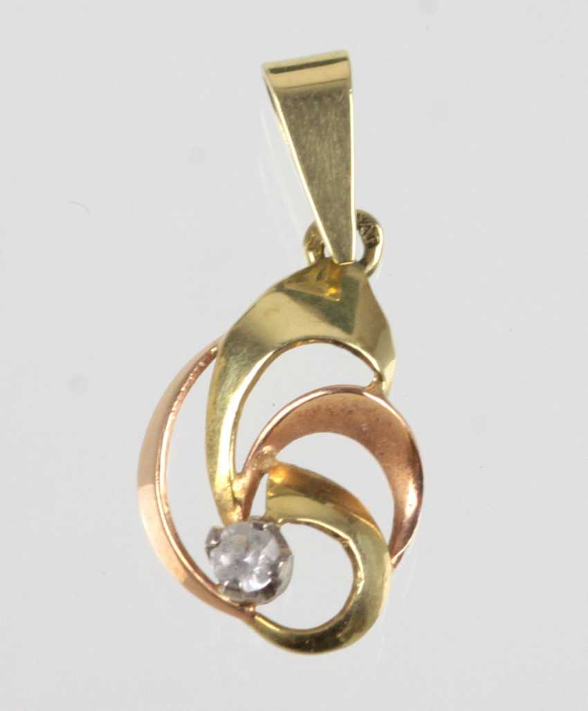Diamond Bicolor pendant - yellow gold/RG 585 - photo 1