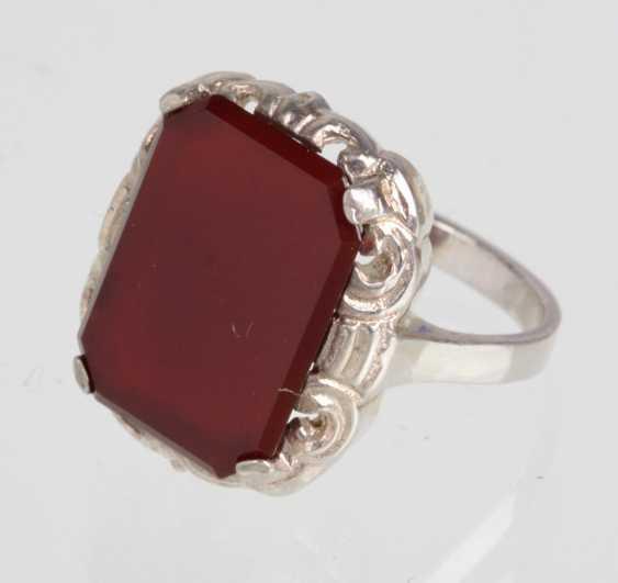 Art Deco Karneol Ring - photo 1